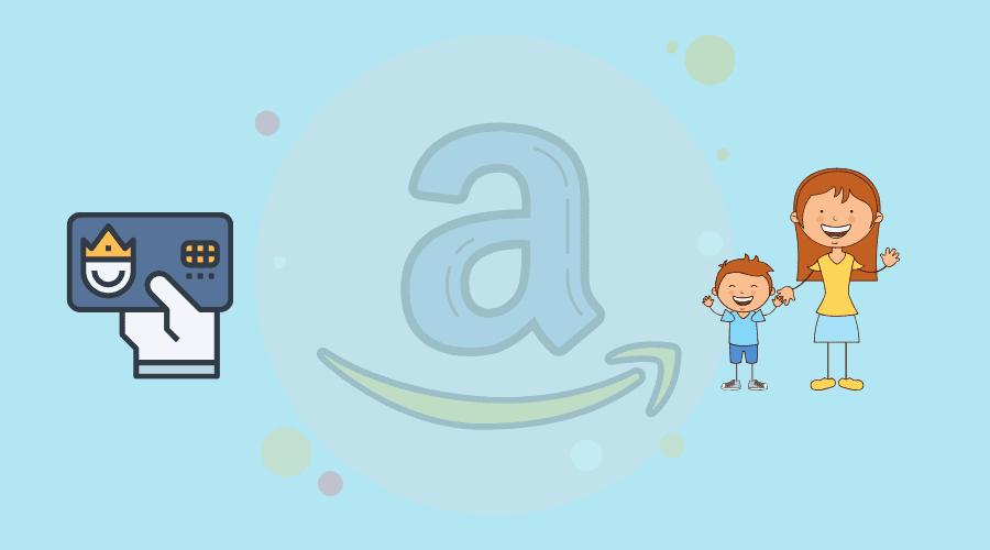 amazonのロゴと会員証と家族