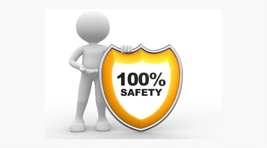100%安全と看板を掲げている人形