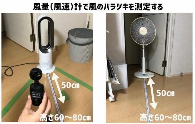 扇風機とダイソンAM09の風の質を風量計を使用して調査していく