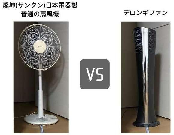 普通の扇風機とデロンギファンの電気代対決