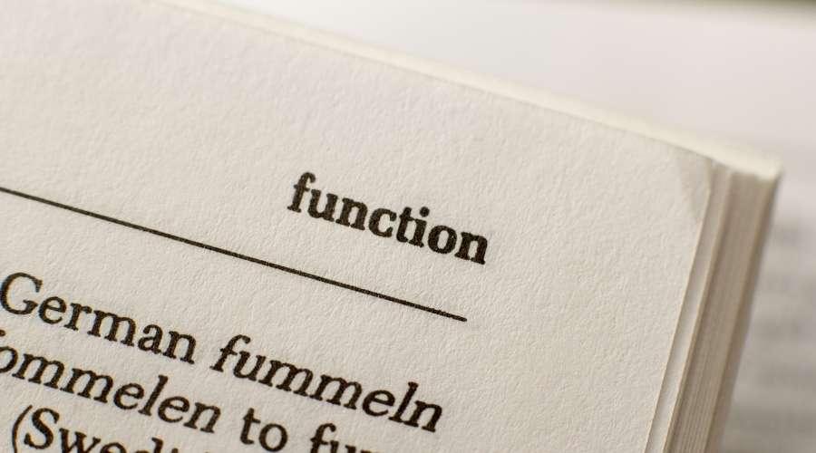本に機能という単語が載っている