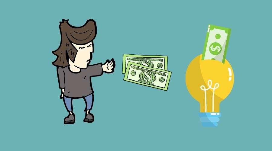 電気をつける為に、お金を入れ続けている人がいる。