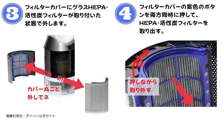 ダイソンPH01型のフィルター交換手順その2