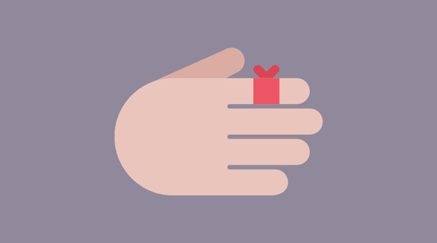 指を怪我して絆創膏を貼っている