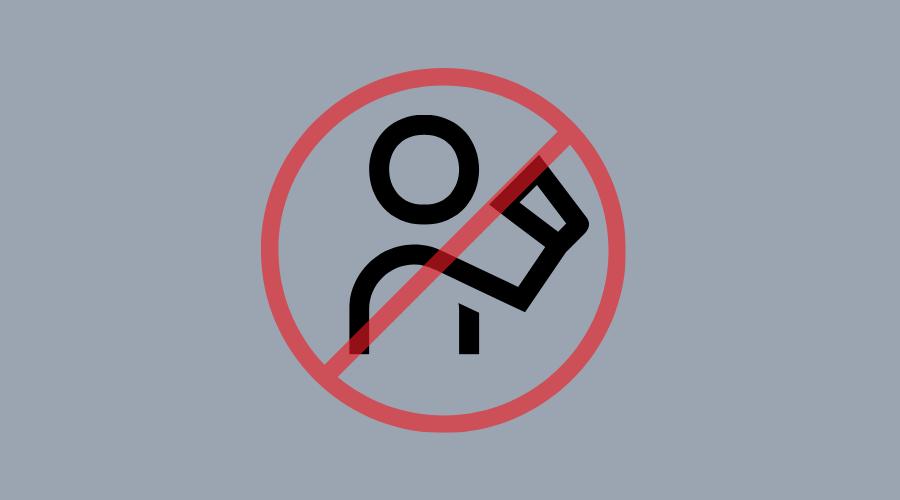 口からの飲み込み禁止マーク