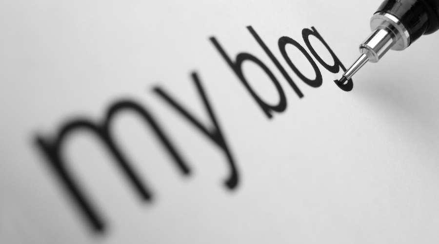 私のブログと書かれている
